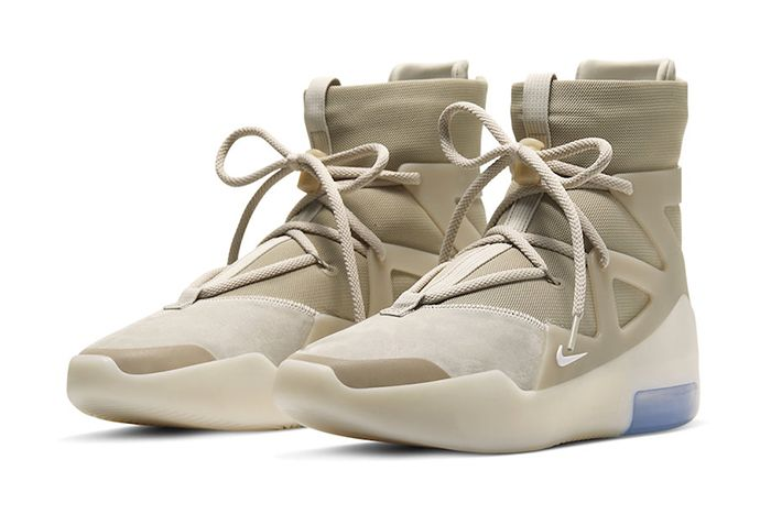 Nike Air Fear Of God 1 Oatmeal Ar4237 900 Release Date Pair