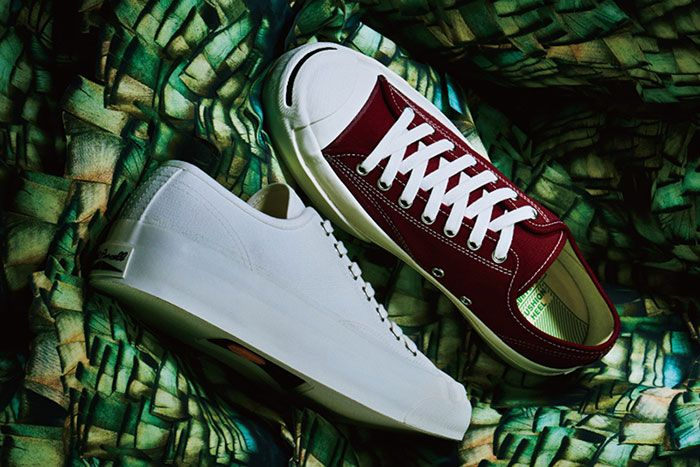 Converse Addict Jackpurcell White Burgundy