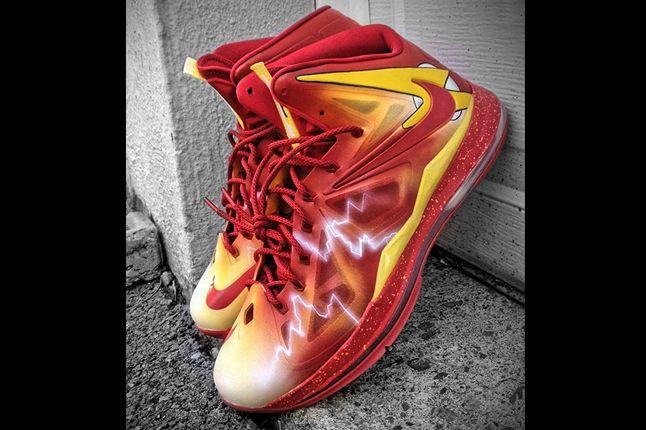 Nike Lebron X Flash Custom By Mache Angle 1