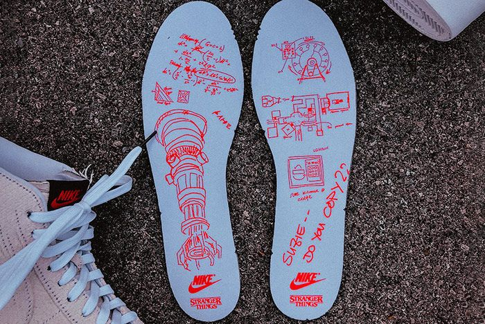 Stranger Things Nike Blazer Mid Starcourt Mall Innersole
