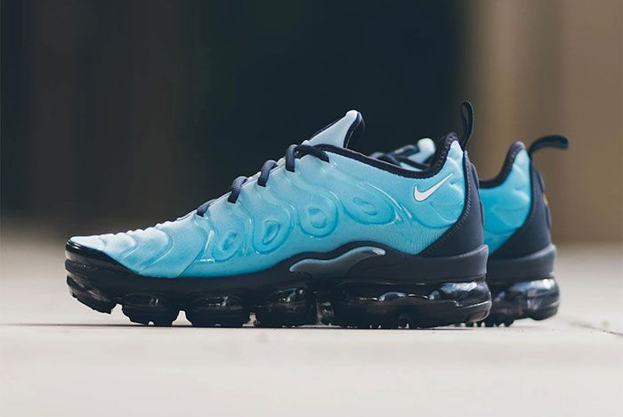 Nike Air Vapor Max Plus Light Current Blue 924453 407 Lateral