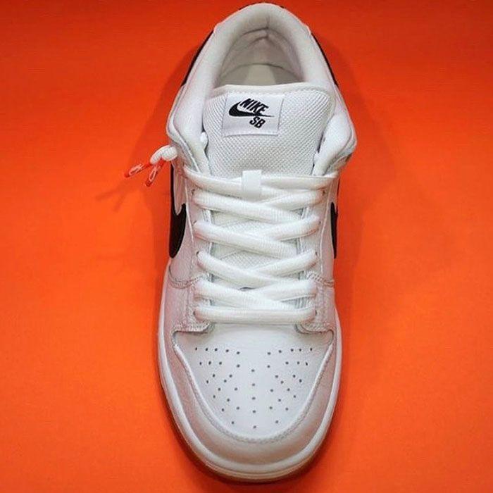 Nike Sb Dunk Low Orange Label White Top