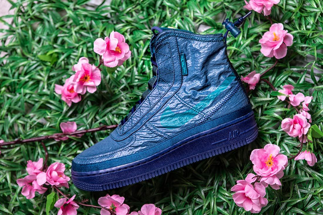 Nike Air Force 1 High Shell Blue Left