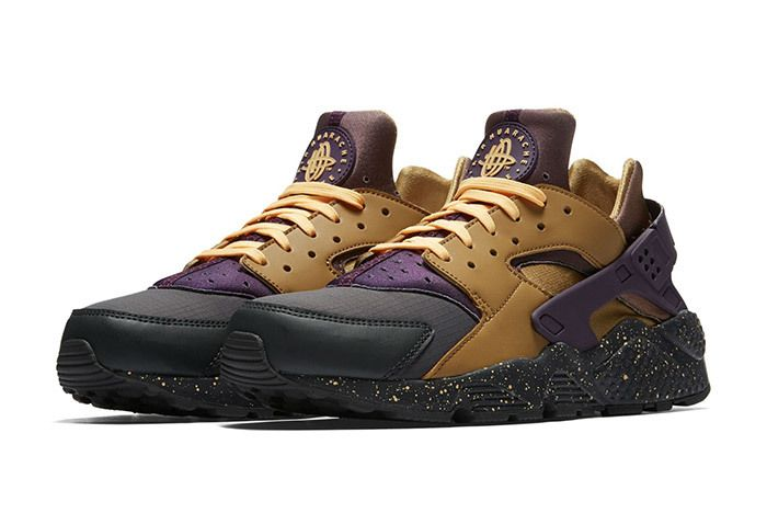Nike Air Huarache Premium Brown Purple 1