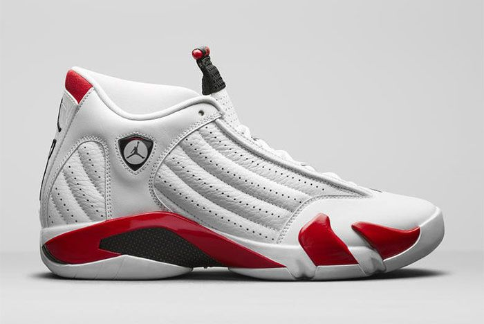 Air Jordan 14 White Red 2019 487471 100 Side
