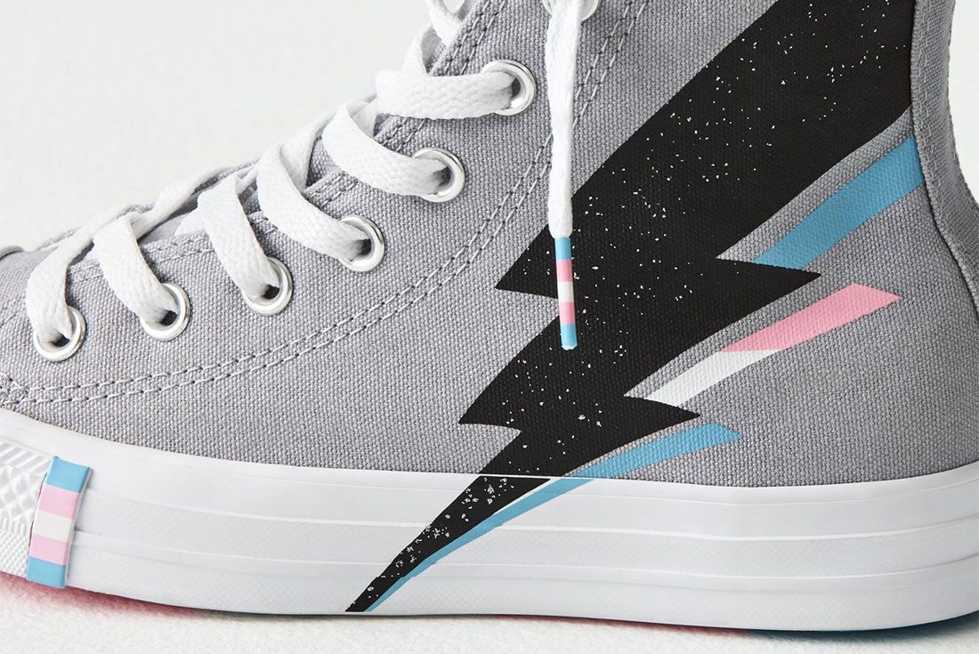 Converse All Star Pride Hi Trans Flag Side