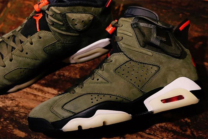 Travis Scott Air Jordan 6 Cn1084 200 2019 Close Up Lateral Side Shot