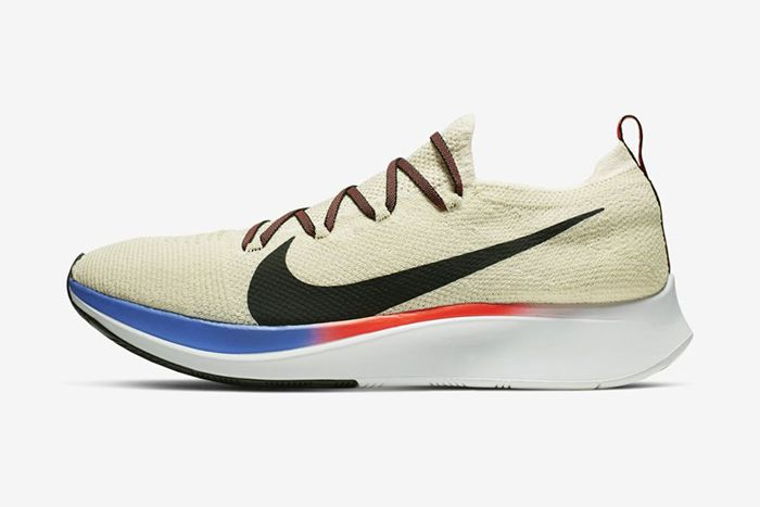 Nike Zoom Fly Flyknit Light Cream University Red Sapphire Black Ar4561 200 Release Date Lateral