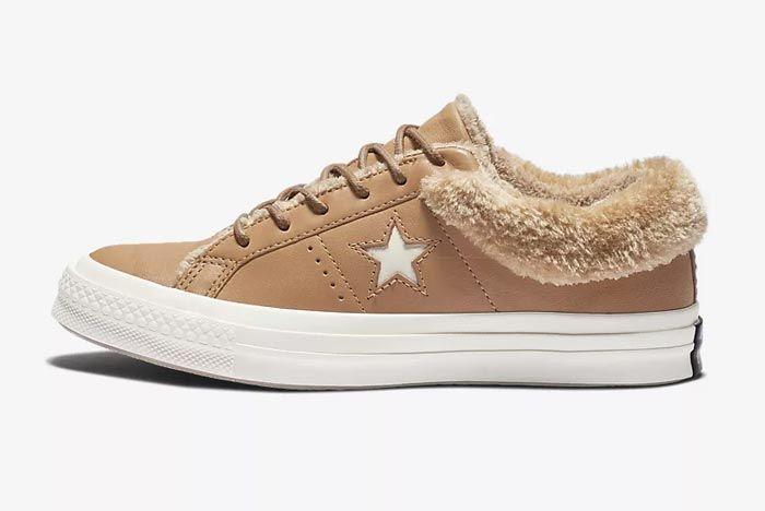 Converse One Star Fur Caramel 1