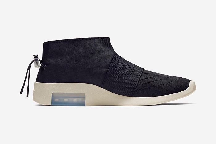Nike Air Fear Of God Moccasin Official Black Release Date Medial