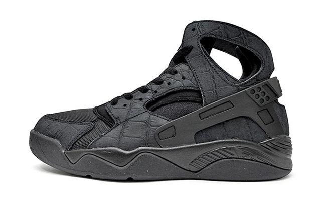 Nike Air Huarache Flight Croc Black3