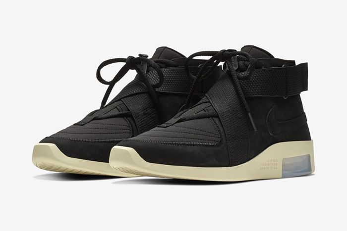 Nike Air Fear Of God Raid Black Fossil At8087 002 Release Date Pair
