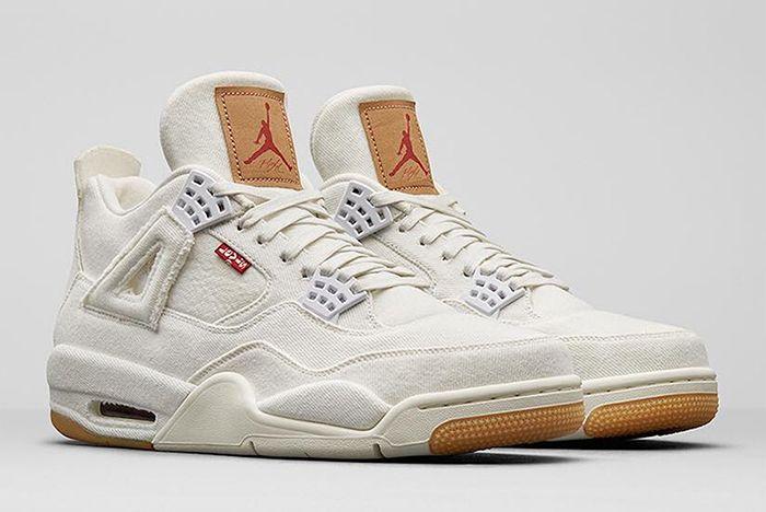 Jordan 4 Levis White Gum Sneaker Freaker