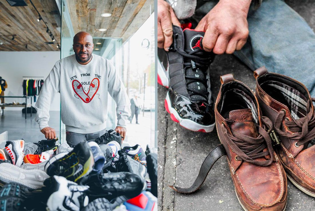 It's From The Sole Sneaker Charity Andrew McDonnell
