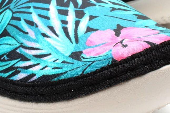 Nike Solarsoft Moccasin Sp Tropical Floral Pack Blue Pink Toe Detail 1