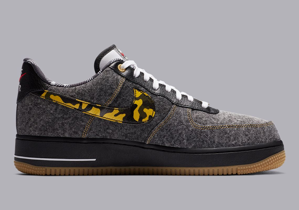 Nike Air Force 1 Denim Camouflage Right