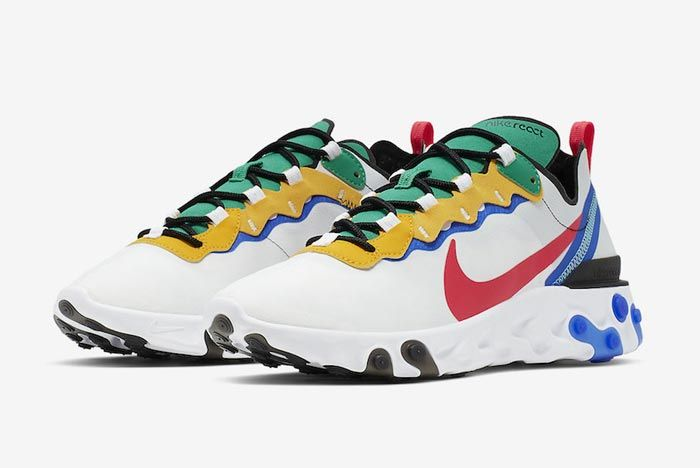 Nike React Element 55 White Multicolour Pair