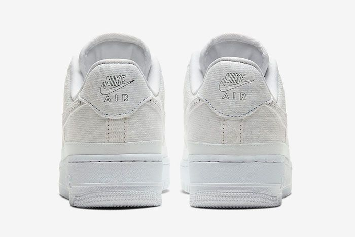 Nike Air Force 1 Multi Color Tear Away Cj1650 101 Heel Shot