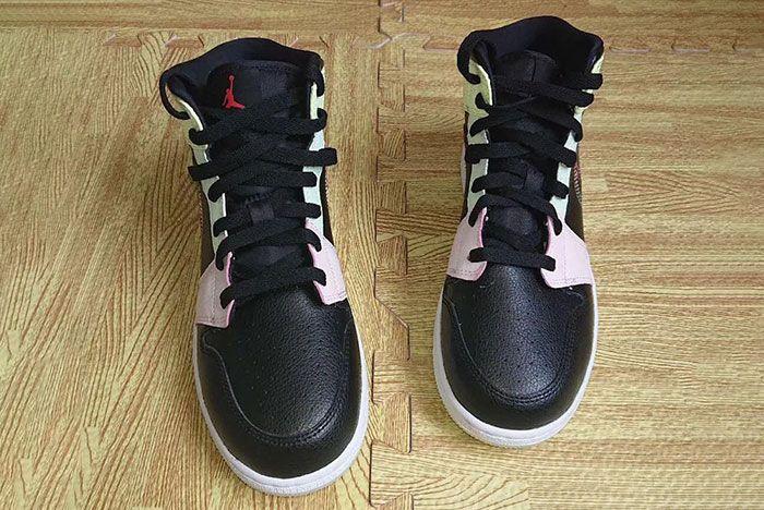 Air Jordan 1 Mid Glow In The Dark Av5174 076 Release Date Front