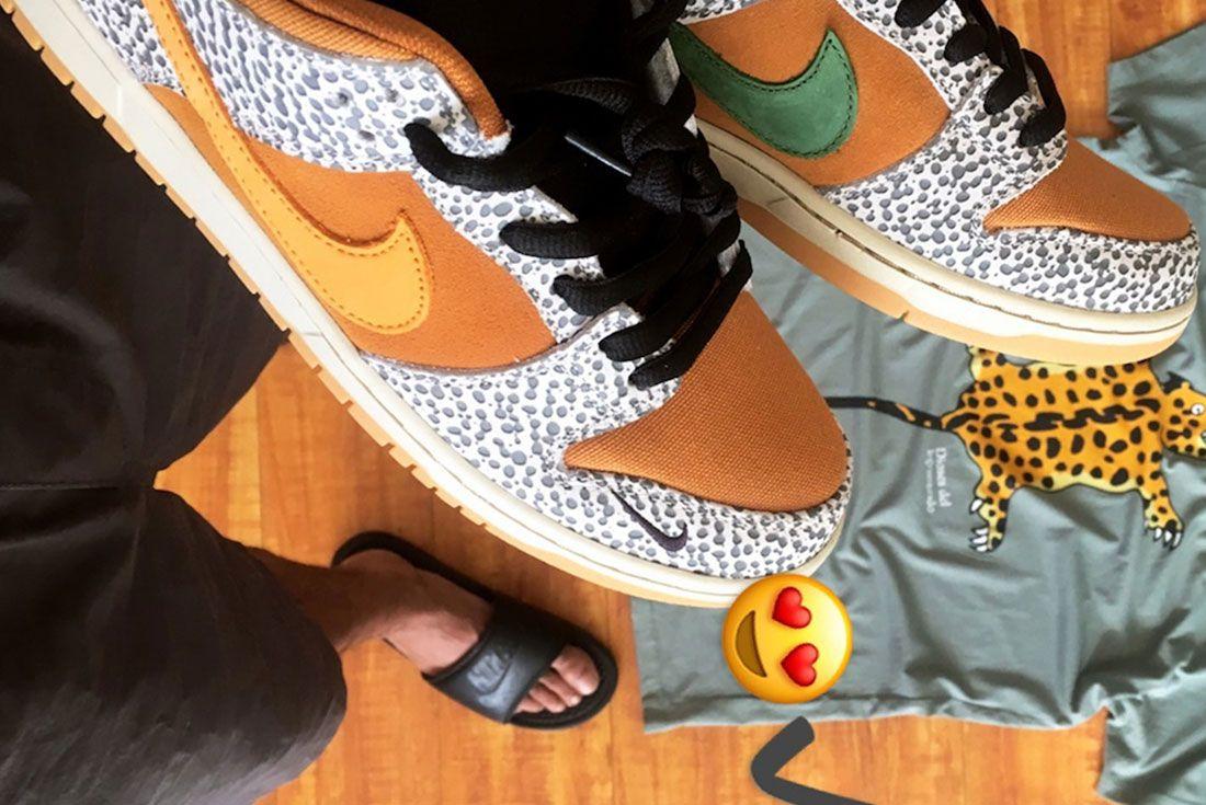 Nike Sb Dunk Low Safari Release Date 1 Toe
