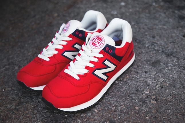 New Balance 574 Rugby Pack Red 1