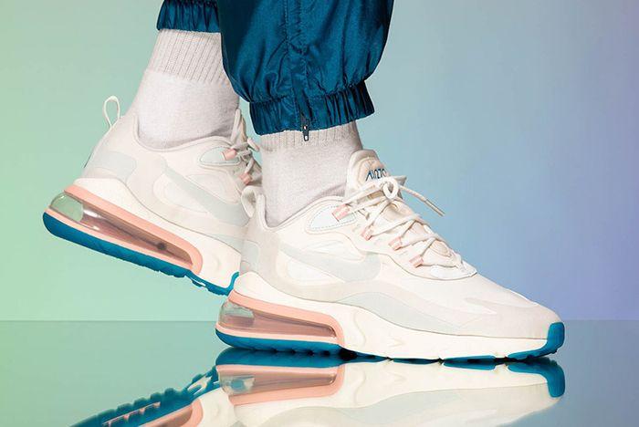 Nike Air Max 270 React Ghost Aqua On Foot Shot