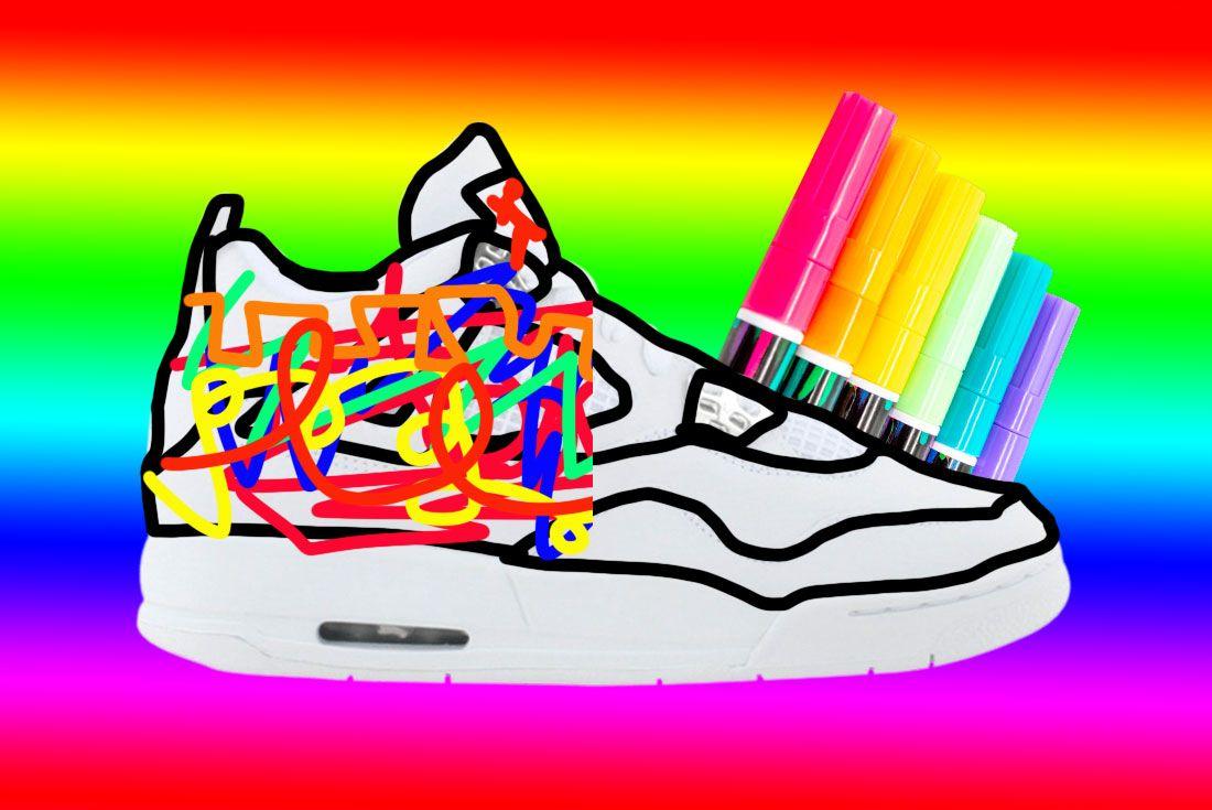 Air Jordan 4 DIY Sneaker Freaker Mockup