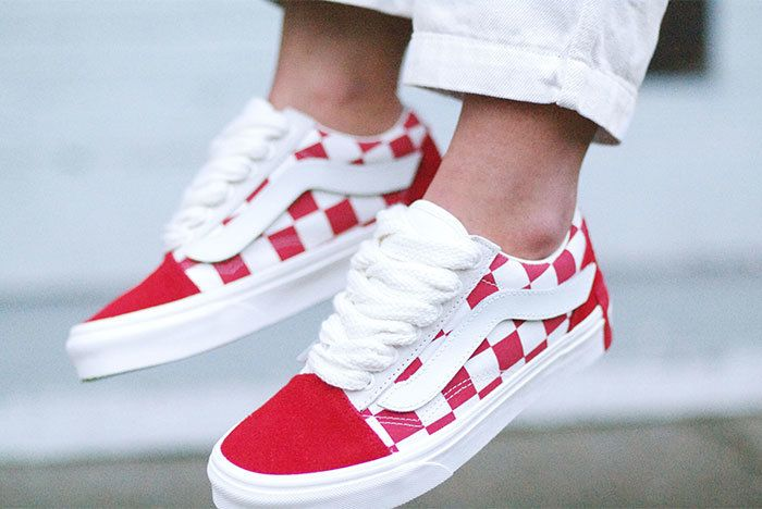 Vans Year Of The Pig X Purlicue Old Skool Marshmallow Racing Red Image1