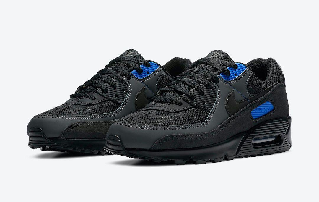 Nike Air Max 90 Black Royal Angled