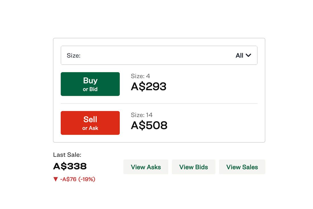 StockX Sneaker Value