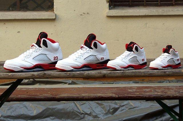 Air Jordan 5 Fire Red Black Tongue 8