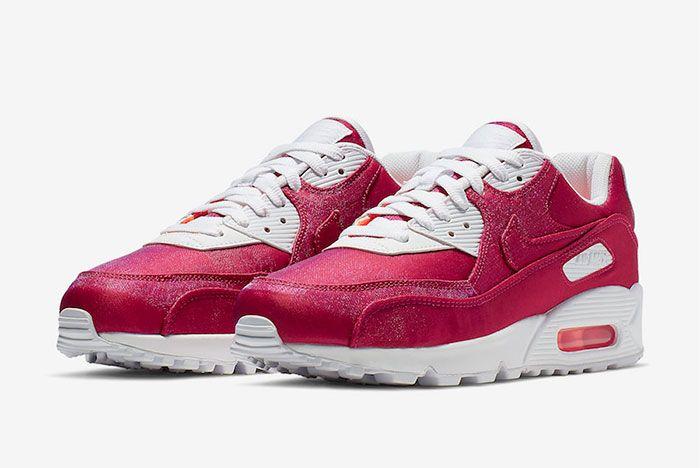 Nike Air Max 90 Hyper Crimson 881105 800 Side Angle Shot 5