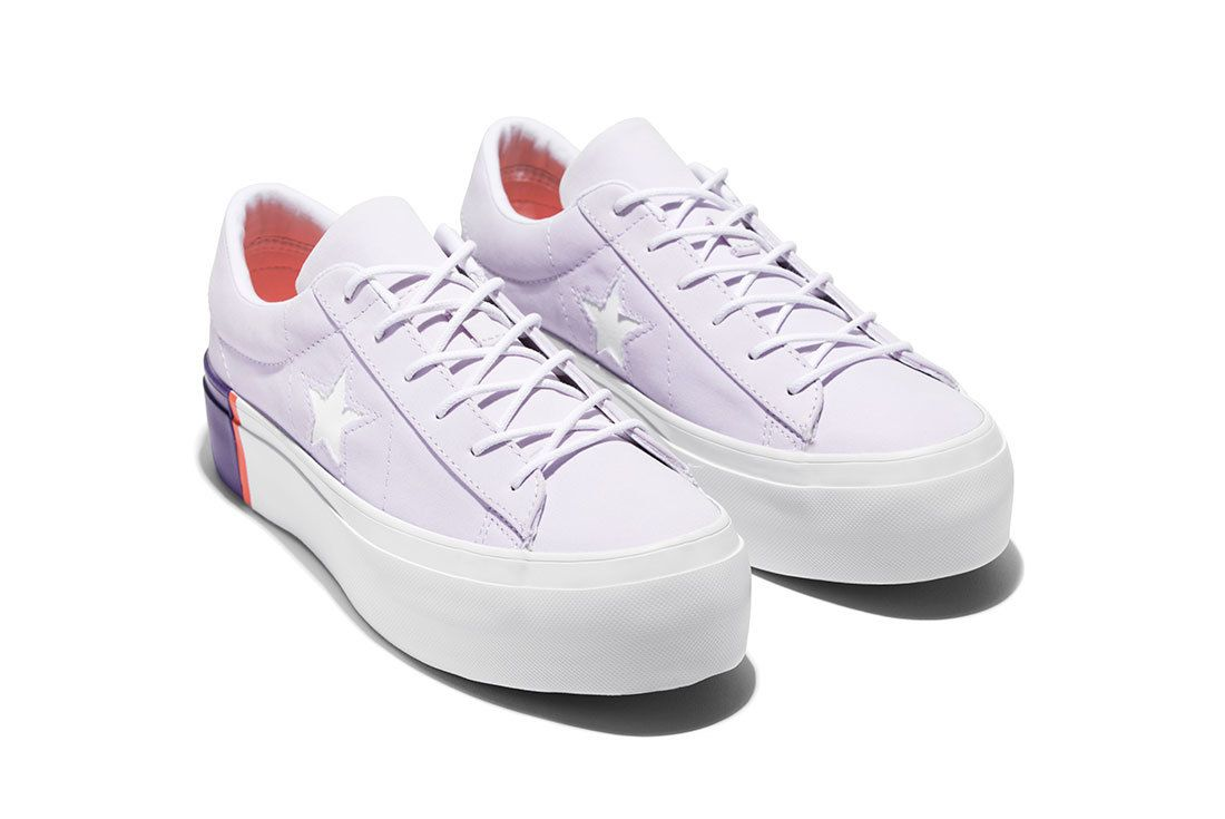 Sp18 Os Platform Color Blocked Midsole Barely Grape Rush Coral 559902 C Pair 77117 77163 Converse One Star Sneaker Freaker