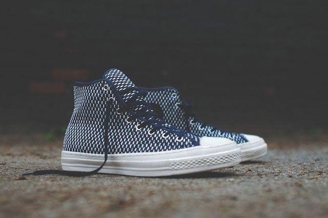 Converse Chuck Taylor All Star Hi Premium Knit Nvy Wht Perpective
