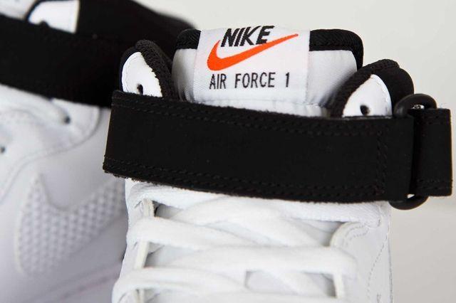 Nike Air Force Mid White Black White 4