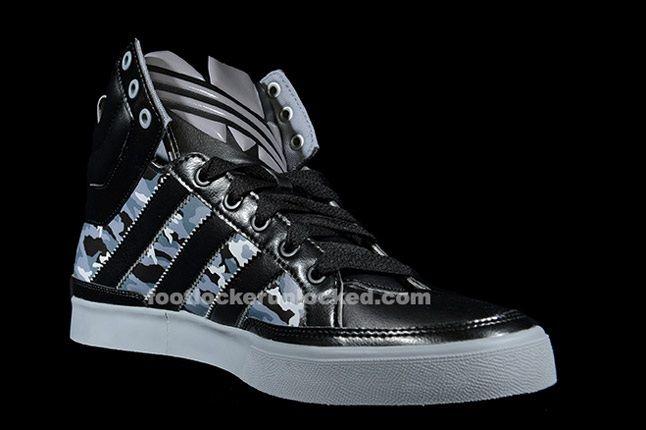 Adidas Top Court Camo Black Angle 1