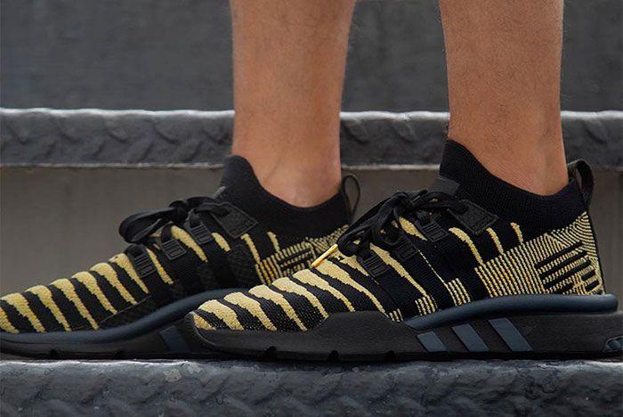 Shenron Adidas Dragon Ball Z Eqt Support Mid Adv Black Gold 3 Sneaker Freaker