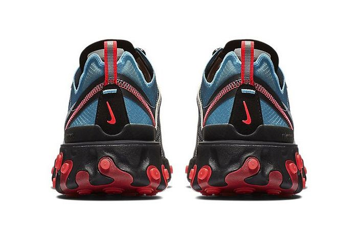 Nike React Element 87 Blue Chill Solar Red 3