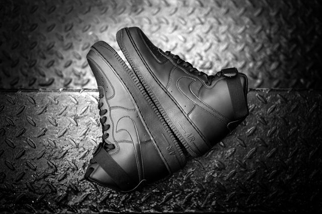 Nike Air Force 1 Black Black 5