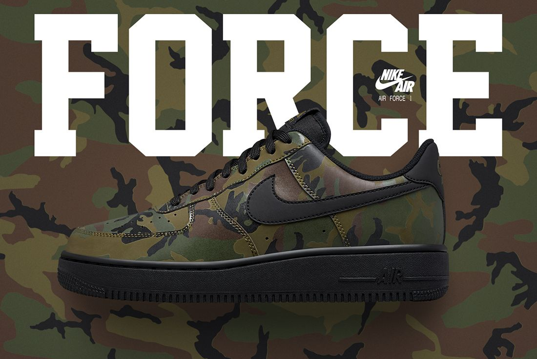 Nike Air Force 1 Camo Reflective Feature