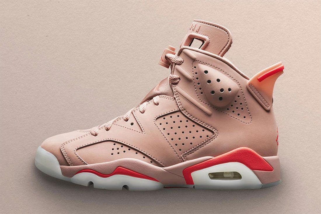 Aleali May Air Jordan 6 Pink Left