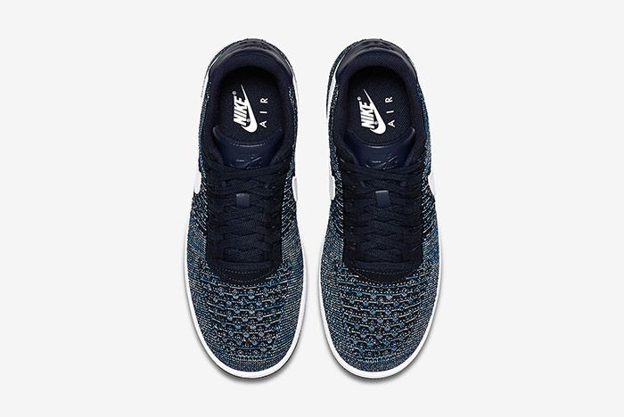 Nike Air Force 1 Flyknit Navy White 4