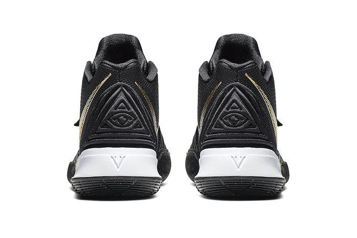 Nike Kyrie 5 Black Metallic Gold Ao2918 007 Release Date Heel
