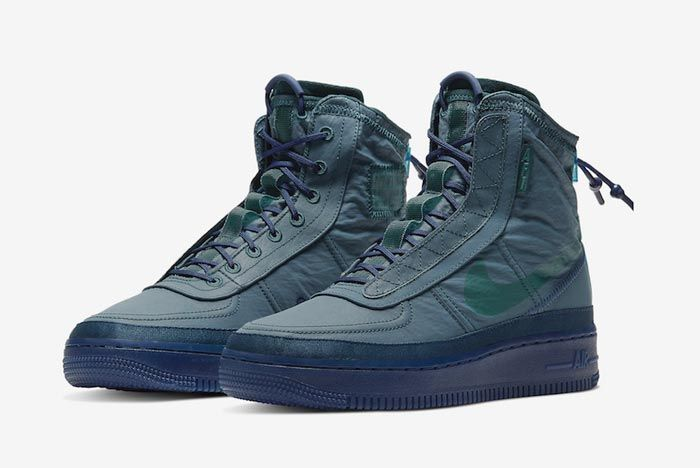 Nike Air Force 1 Shell Midnight Turquoise Pair