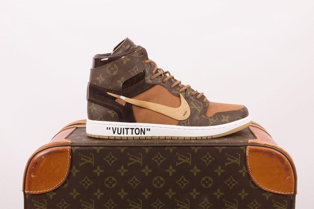Off White X Louis Vuitton Off Louis Air Jordan 1 Custom 8