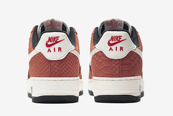 Nike Air Force 1 Prm Red Bark Cv5567 200 Heel Shot