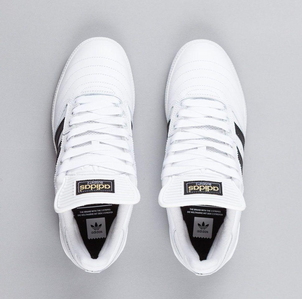 Adidas Busenitz Shoes Ftw White Core Black Gold Metallic 8 1