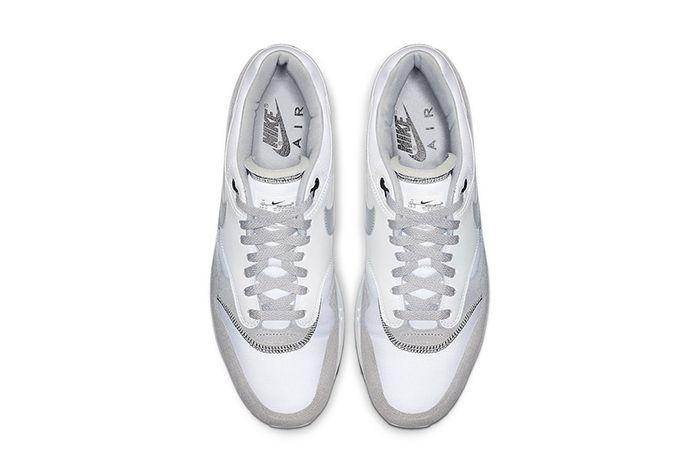 Nike Air Max 1 White Black Wolf Grey Ah8145 113 Release Date Top Down