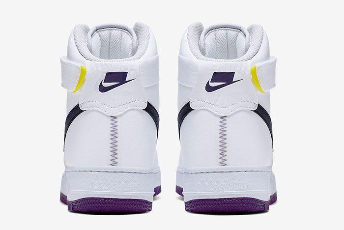 Nike Air Force 1 High White Court Purple Ci1117 100 Heels