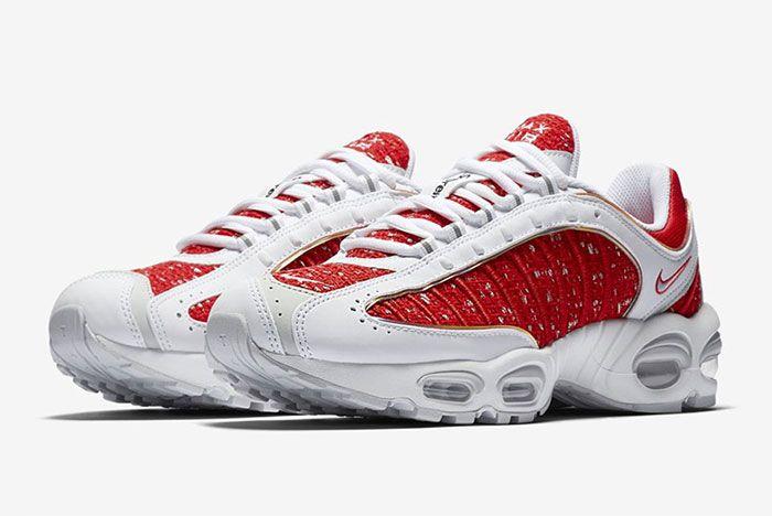 Supreme Nike Tailwind 4 White Red 2